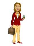Business woman on white background Stock Photos
