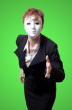 Business woman with white mask Stock Image