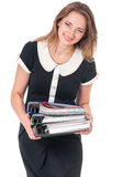 Business woman on white Stock Photography