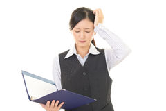 Business woman who is tired Stock Image