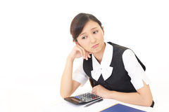 Business woman who is tired Royalty Free Stock Photo