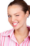 Business woman wink Stock Images