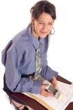 Business woman winking Stock Photo
