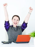 Business woman winner Royalty Free Stock Image