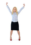 Business woman winner Royalty Free Stock Photo