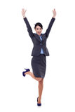 Business woman winning Royalty Free Stock Photo