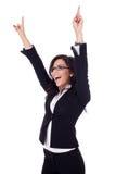 Business woman winning Stock Photography