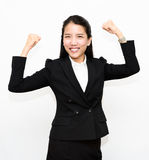 Business woman winning Royalty Free Stock Images