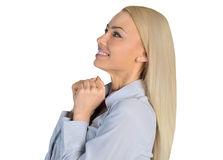 Business woman wish something Stock Photos