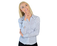 Business woman wish something Royalty Free Stock Photos