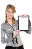 Business Woman With A Folder Royalty Free Stock Images