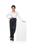 Business Woman With Blank White Board Royalty Free Stock Photo