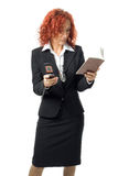 Business Woman With Cell Phone Stock Photo