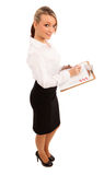 Business Woman With Checklist Royalty Free Stock Photos