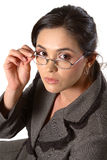 Business Woman With Glasses Closeup Royalty Free Stock Photos