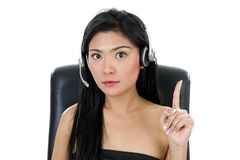 Business Woman With Headset Stock Photos