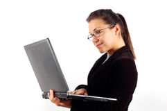 Business Woman With Laptop 11 Stock Photo