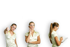 Business woman at work Royalty Free Stock Image