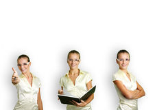 Business woman at work Royalty Free Stock Images