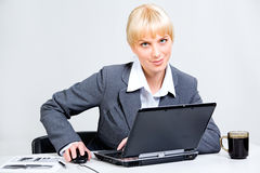 Business woman at work Stock Images