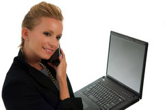 Young Female Executive. Business woman at work on the go Stock Images