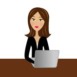 Business woman work in office Royalty Free Stock Photo