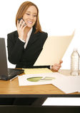 business woman working στοκ φωτογραφία με δικαίωμα ελεύθερης χρήσης