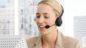 Business woman working in a call centre