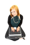 Business woman working with computer Stock Photography