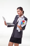 Business woman working easy Stock Photography