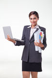 Business woman working easy Royalty Free Stock Image