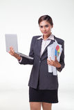 Business woman working easy Stock Photo