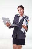 Business woman working easy Stock Image