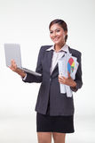 Business woman working easy Stock Photos