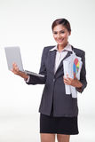 Business woman working easy Royalty Free Stock Photo