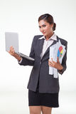 Business woman working easy Royalty Free Stock Photography