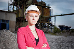 Business woman on working field Royalty Free Stock Photo