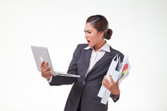 Business woman working hard Stock Photography