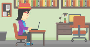 Business woman working on her laptop. Royalty Free Stock Photo