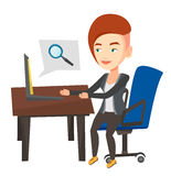 Business woman working on her laptop. Stock Image