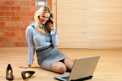 Business woman working at home Stock Image