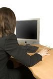 Business woman working at home Stock Photography