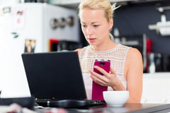 Business woman working from home. Royalty Free Stock Photography