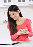 Business woman working at home Stock Images