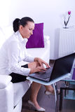 Business woman working on the laptop Stock Photography