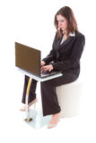 Business woman working on the laptop Stock Image