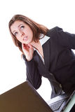 Business woman working on the laptop Stock Images