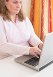 Business woman working with laptop Royalty Free Stock Image