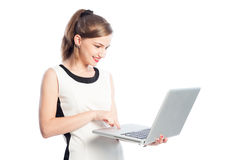 Business woman working on laptop Stock Photography