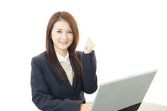 Business woman working on laptop Royalty Free Stock Photo